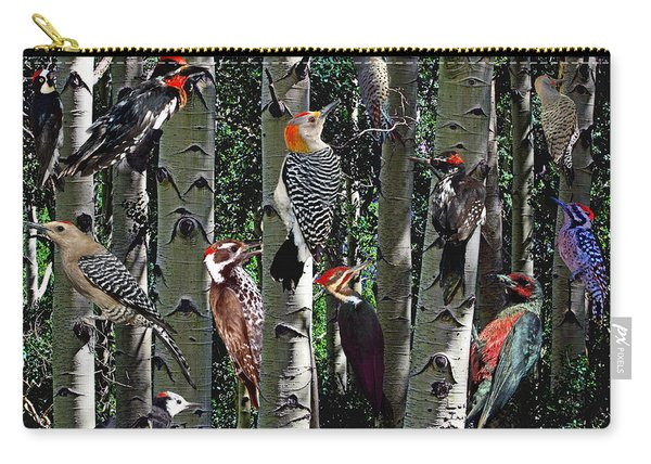 Woodpecker Collage Carry-all Pouch