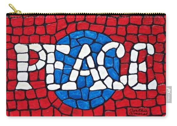 Carry-all Pouch featuring the painting World Peace by Cynthia Amaral