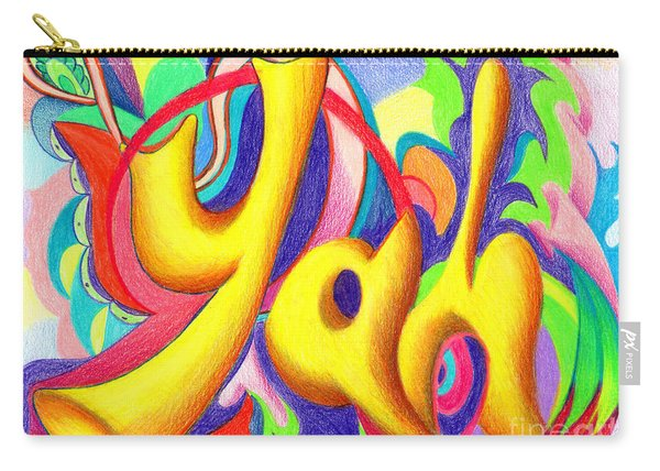 Carry-all Pouch featuring the painting YAH by Nancy Cupp