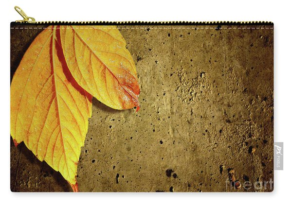 Yellow Fall Leafs Carry-all Pouch