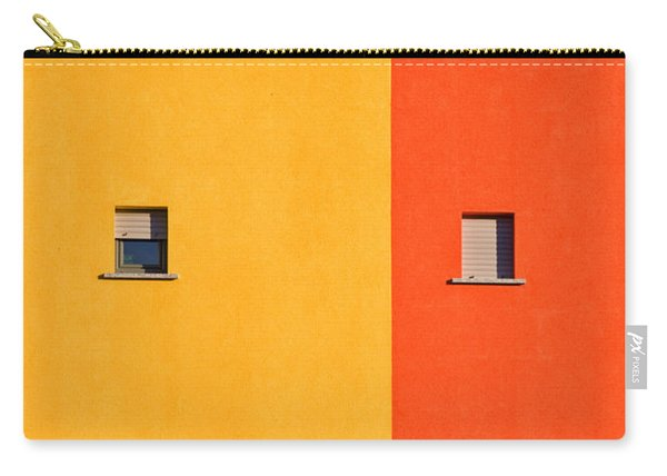 Yellow Orange Blue With Windows Carry-all Pouch