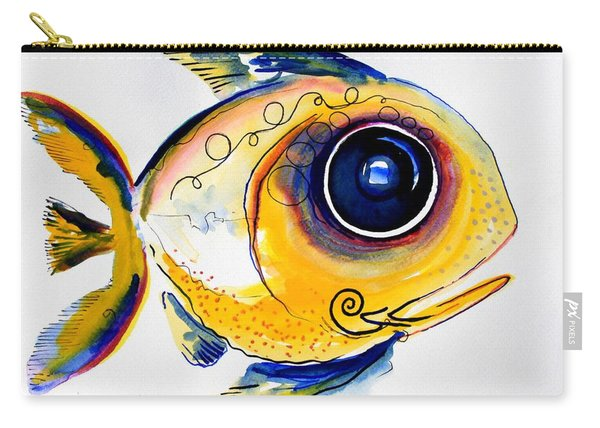 Yellow Study Fish Carry-all Pouch