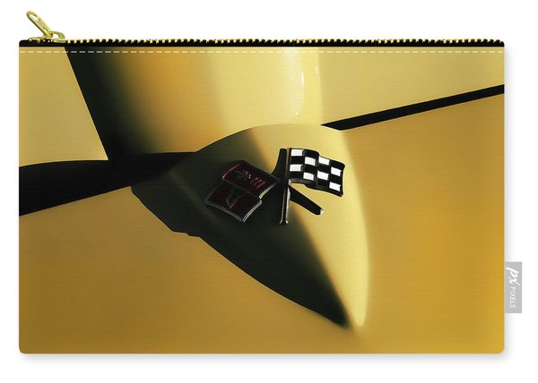 Yellow Vette Badge Carry-all Pouch