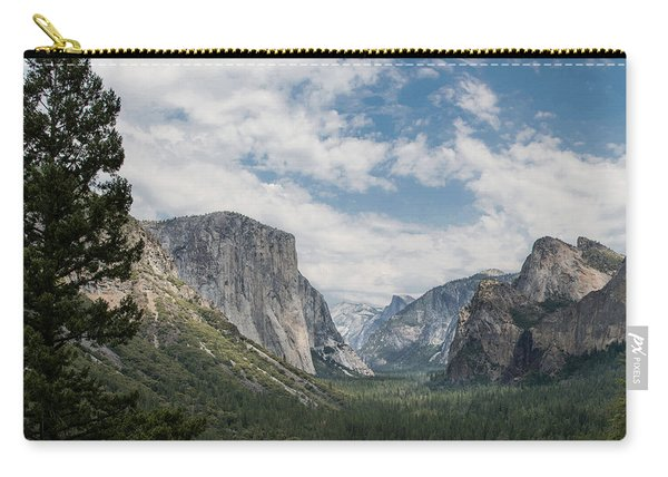 Yosemite Valley From Tunnel View At Yosemite Np Carry-all Pouch