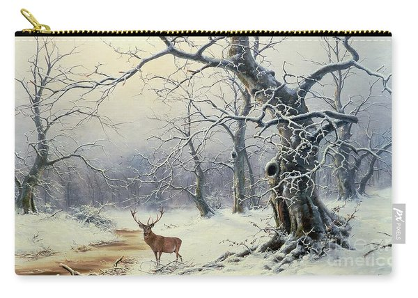A Stag In A Wooded Landscape  Carry-all Pouch