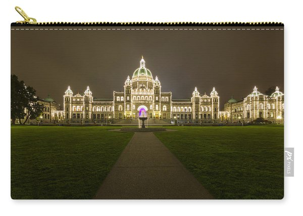 British Columbia Parliament Buildings At Night Carry-all Pouch