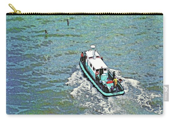 Fishing Boat In San Francisco Bay Carry-all Pouch