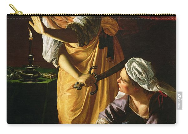 Judith And Maidservant With The Head Of Holofernes Carry-all Pouch