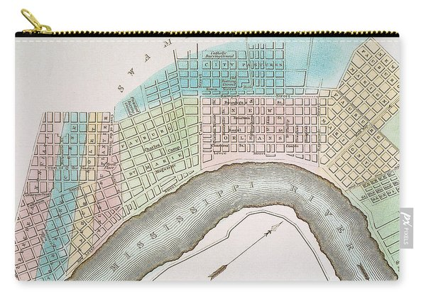 New Orleans Map, 1837 Carry-all Pouch