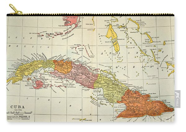 Map: Cuba, 1900 Carry-all Pouch