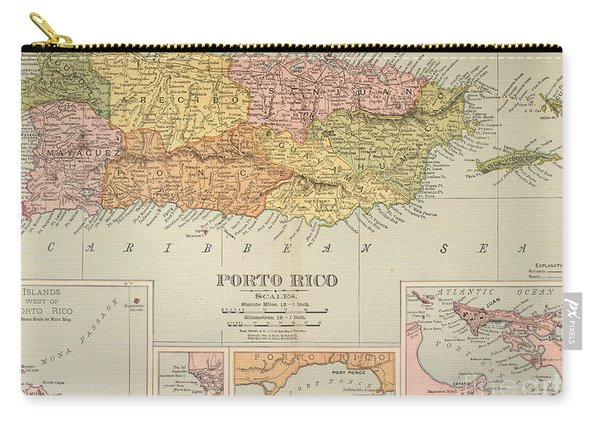 Map: Puerto Rico, 1900 Carry-all Pouch