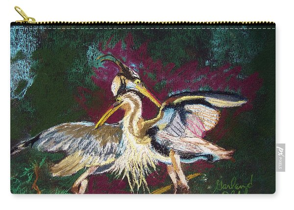 021916 Blue Heron's Dance Carry-all Pouch