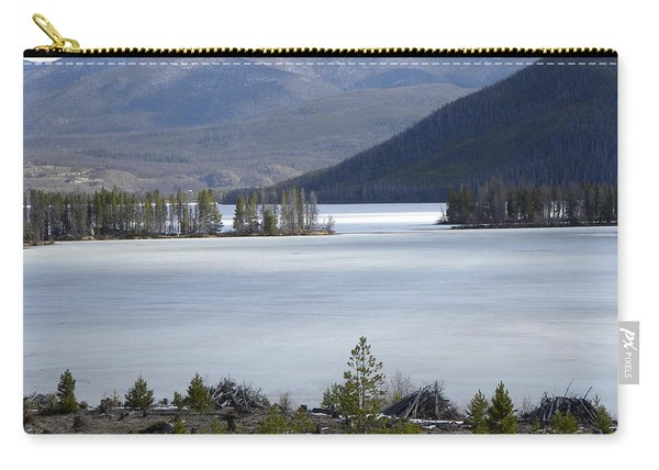 Carry-all Pouch featuring the photograph Granby Lake Rmnp by Margarethe Binkley