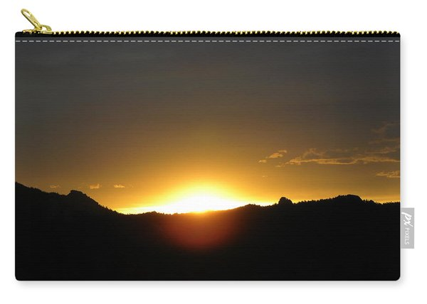 Carry-all Pouch featuring the photograph Sunrise West Side Of Rmnp Co by Margarethe Binkley