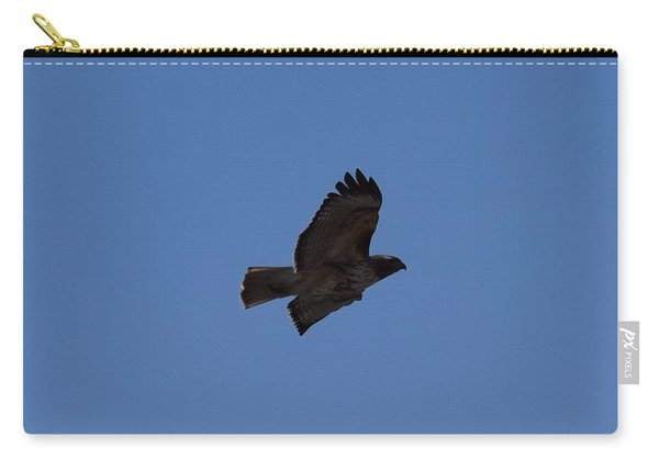 Carry-all Pouch featuring the photograph Red Tail Hawk Male Tower Rd Denver Co 0898 by Margarethe Binkley