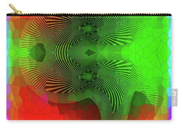 Carry-all Pouch featuring the digital art #061120172 by Visual Artist Frank Bonilla