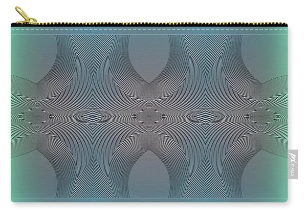 Carry-all Pouch featuring the digital art #061220171 by Visual Artist Frank Bonilla