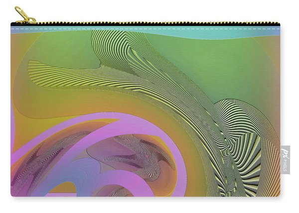 Carry-all Pouch featuring the digital art #061220173 by Visual Artist Frank Bonilla