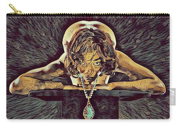 0756s-zac Nude Woman With Amulet On Tall Pedestal  Carry-all Pouch