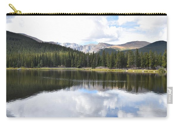 Carry-all Pouch featuring the photograph Echo Lake Reflection Mnt Evans Co by Margarethe Binkley