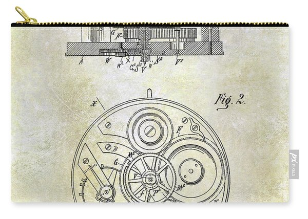 1908 Pocket Watch Patent  Carry-all Pouch