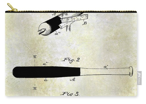 1920 Baseball Bat Patent Carry-all Pouch
