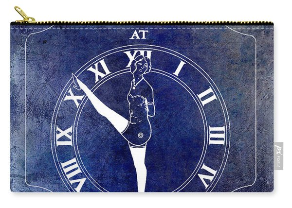 1928 Time Indicator Patent Blue Carry-all Pouch