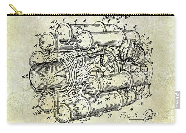 1946 Jet Engine Patent Carry-all Pouch
