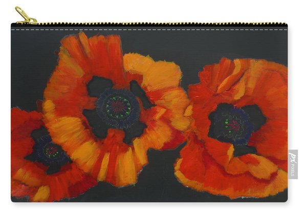 Carry-all Pouch featuring the painting 3 Poppies by Richard Le Page