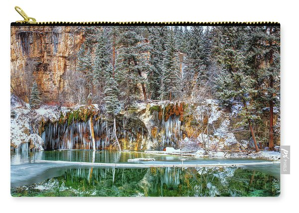 Olena Art Serene Chill Hanging Lake Photograph The Gem Of Glenwood Canyon Colorado Carry-all Pouch