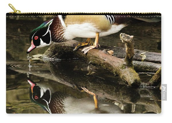 A Sip For You And Me Wildlife Art By Kaylyn Franks Carry-all Pouch