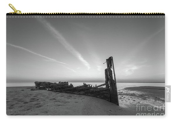 Abandoned Boat Bw Carry-all Pouch