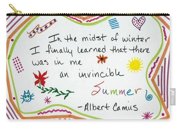Albert Camus Doodle Quote Carry-all Pouch