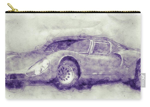 Alfa Romeo 33 Stradale 1 - 1967 - Automotive Art - Car Posters Carry-all Pouch