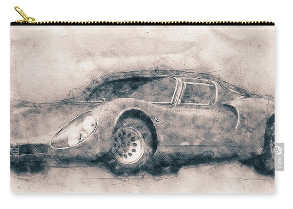 Alfa Romeo 33 Stradale - 1967 - Automotive Art - Car Posters Carry-all Pouch