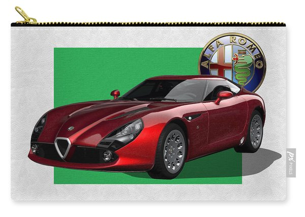 Alfa Romeo Zagato  T Z 3  Stradale With 3 D Badge  Carry-all Pouch
