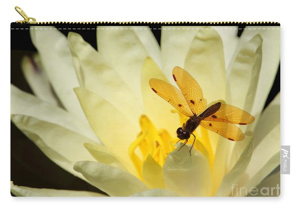 Amber Dragonfly Dancer 2 Carry-all Pouch