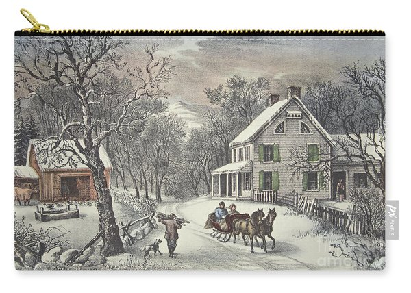 American Homestead   Winter Carry-all Pouch