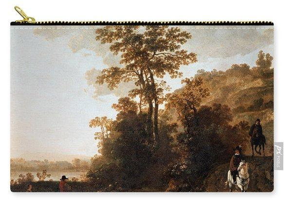 An Evening Ride Near A River Carry-all Pouch