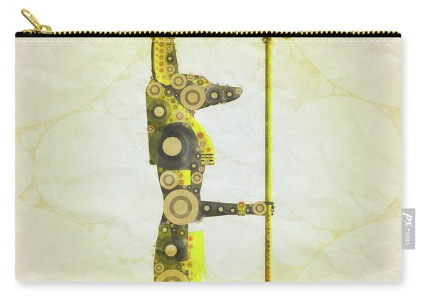Anubis, Pop Art By Mary Bassett Carry-all Pouch