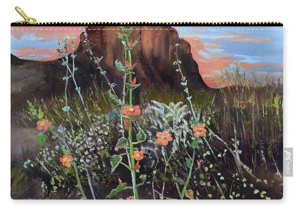 Arizona Desert Flowers-dwarf Indian Mallow Carry-all Pouch