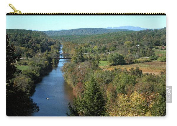 Autumn Landscape With Tye River In Nelson County, Virginia Carry-all Pouch