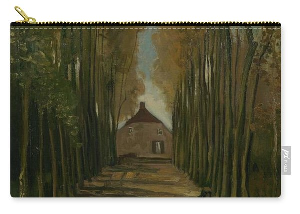 Avenue Of Poplars In Autumn Nuenen, October 1884 Vincent Van Gogh 1853 - 1890 Carry-all Pouch