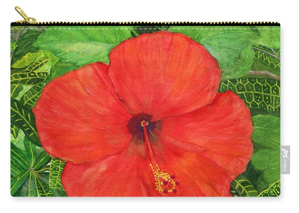 Balinese Hibiscus Rosa Carry-all Pouch