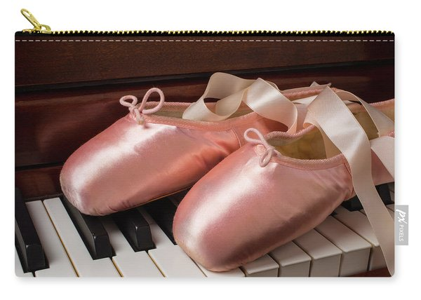 Ballet Shoes On Piano Keys Carry-all Pouch