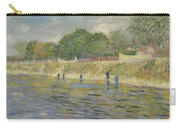 Bank Of The Seine Paris, May - July 1887 Vincent Van Gogh 1853 - 1890 Carry-all Pouch
