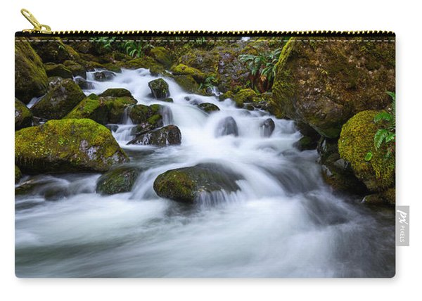 Beautiful Bunch Creek Falls In The Olympic National Park Of Wash Carry-all Pouch