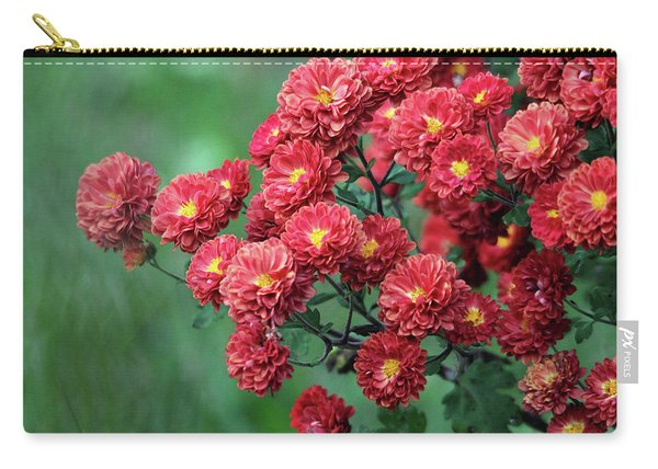 Beautiful Red Mums Carry-all Pouch