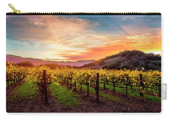 Morning Sun Over The Vineyard Carry-all Pouch