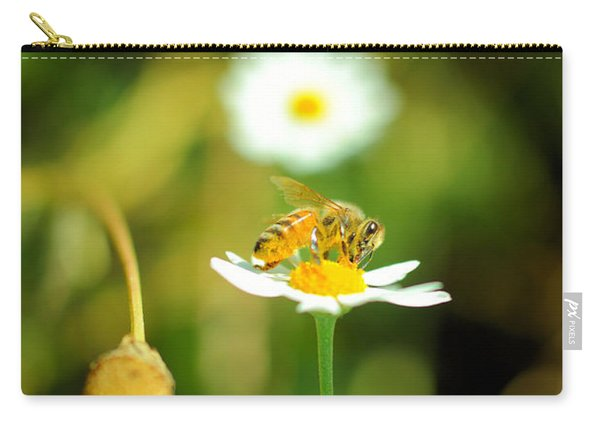 Bee On A Flower Carry-all Pouch